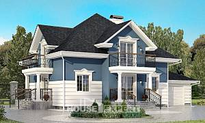 180-002-R Two Story House Plans with mansard roof with garage in front, luxury Ranch