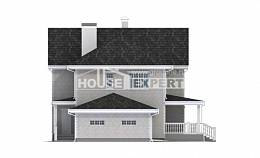 190-001-L Two Story House Plans with garage, spacious Blueprints of House Plans,
