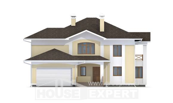 375-002-L Two Story House Plans with garage in front, cozy Design Blueprints
