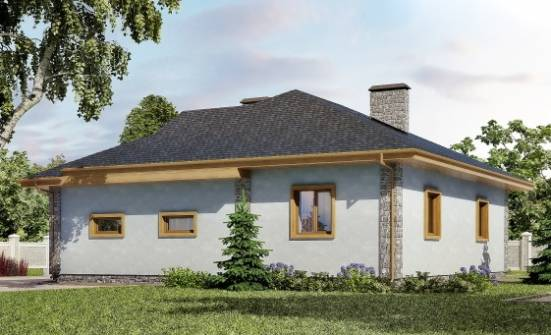 130-006-R One Story House Plans with garage in front, economical Dream Plan, House Expert
