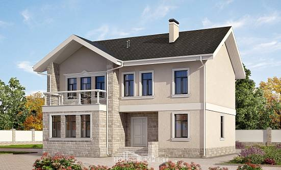 170-008-L Two Story House Plans, economical Construction Plans,
