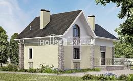 150-012-R Two Story House Plans with mansard, small Blueprints,