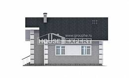 115-001-L Two Story House Plans with mansard roof, the budget Home Blueprints,