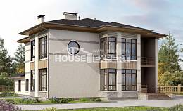 345-001-R Two Story House Plans, modern Custom Home Plans Online