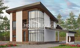 230-001-R Two Story House Plans with mansard roof, spacious Architectural Plans, House Expert