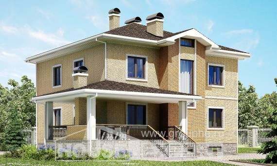 350-002-L Three Story House Plans with garage under, beautiful Dream Plan, House Expert