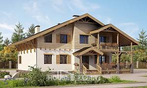 260-001-L Two Story House Plans with mansard, a huge Online Floor