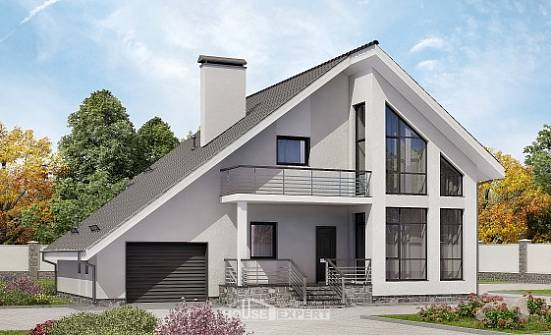 200-007-L Two Story House Plans and mansard with garage under, best house Blueprints of House Plans,