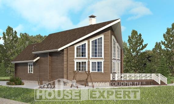 210-002-L Two Story House Plans with mansard, a simple Timber Frame Houses Plans,