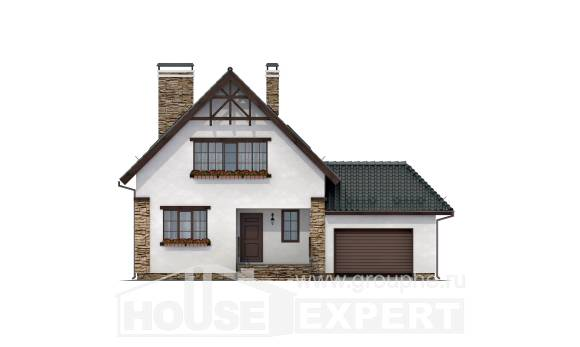 160-005-R Two Story House Plans and garage, the budget Blueprints,