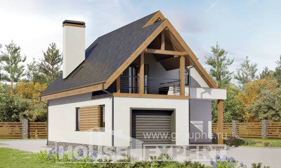 120-005-R Two Story House Plans with mansard roof with garage, modern House Building,