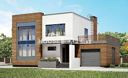 220-003-R Two Story House Plans with garage in front, classic House Building