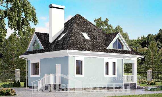110-001-L Two Story House Plans with mansard roof, small Ranch,