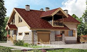 165-002-R Two Story House Plans with garage, beautiful Home House