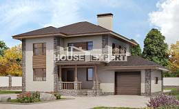 185-004-R Two Story House Plans with garage, a simple Tiny House Plans,
