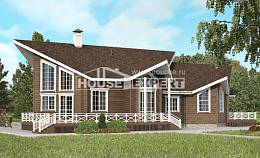 210-002-L Two Story House Plans with mansard roof, spacious Home Plans,