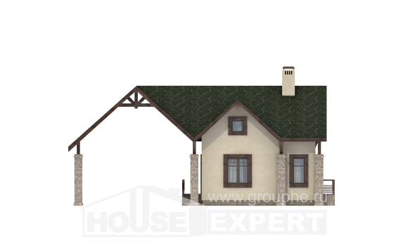 060-001-L Two Story House Plans and mansard with garage under, a simple Architects House,
