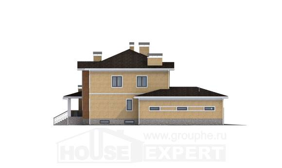 350-002-L Three Story House Plans with garage under, luxury Architectural Plans, House Expert