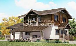 170-004-L Two Story House Plans with mansard roof with garage in front, the budget Villa Plan,