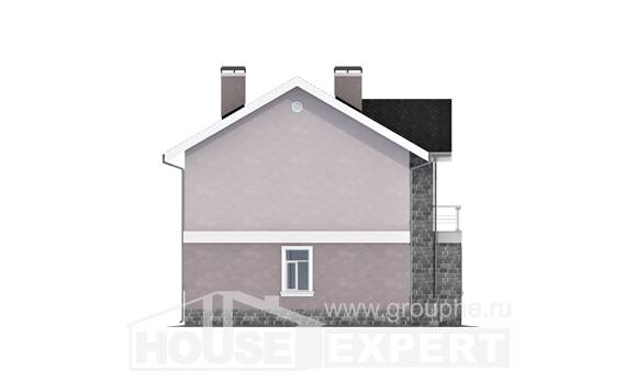 170-008-R Two Story House Plans, economical Building Plan,