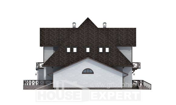 350-001-L Two Story House Plans with mansard roof with garage, big House Blueprints,