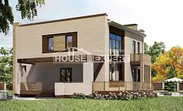 220-003-L Two Story House Plans with garage, a simple Design House