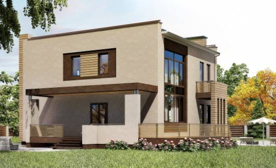 220-003-L Two Story House Plans and garage, modern Construction Plans, House Expert