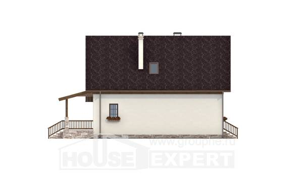 140-001-R Two Story House Plans and mansard, the budget Home House,