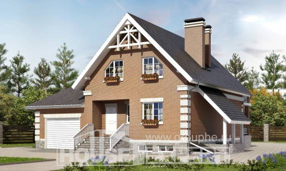 200-009-L Three Story House Plans and mansard and garage, classic Architects House