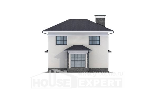 155-011-R Two Story House Plans, modest House Building, House Expert