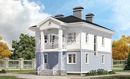 120-001-R Two Story House Plans, classic Custom Home