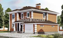 220-004-L Two Story House Plans with garage in front, classic Design Blueprints,