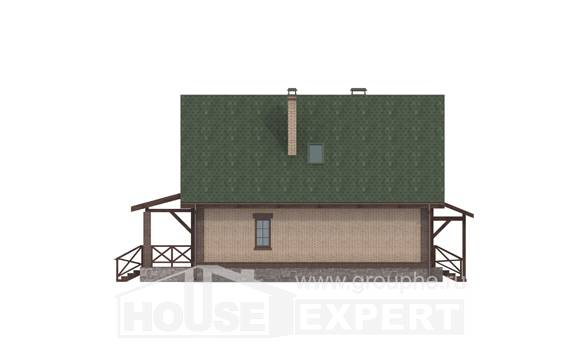 160-011-R Two Story House Plans and mansard, inexpensive Architects House,