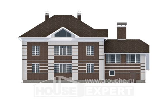 505-002-L Three Story House Plans with garage in back, spacious Design House,