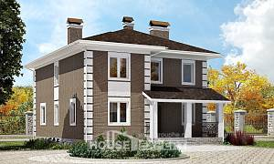 185-002-R Two Story House Plans, luxury Woodhouses Plans