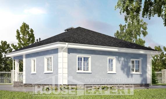 100-001-R One Story House Plans, small Architects House