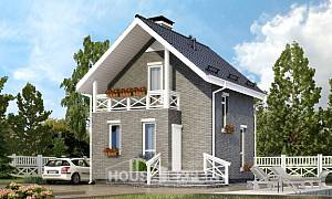 045-001-R Two Story House Plans and mansard, modest Villa Plan