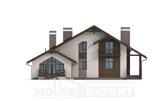265-001-R Two Story House Plans and mansard with garage in back, beautiful Online Floor