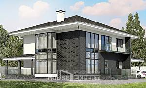 245-002-R Two Story House Plans with garage in front, beautiful Floor Plan