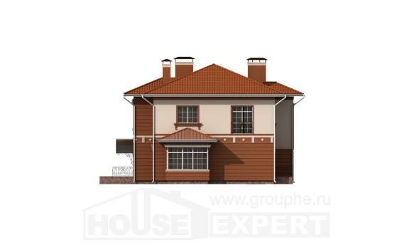 285-001-L Two Story House Plans with garage under, spacious Drawing House,