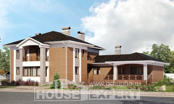 520-002-L Three Story House Plans with garage under, beautiful Construction Plans, House Expert