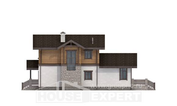 170-004-L Two Story House Plans and mansard with garage in front, available House Blueprints,