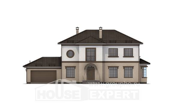 290-004-L Two Story House Plans with garage in front, cozy Construction Plans,