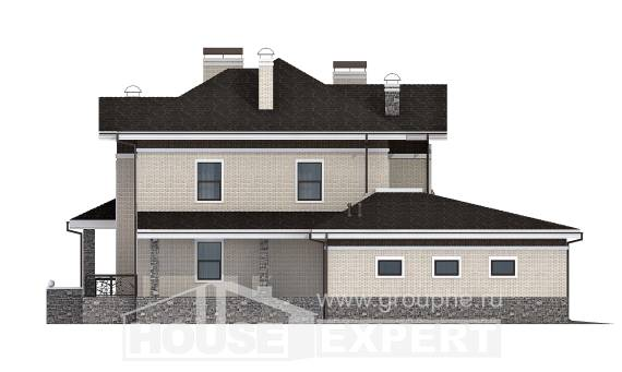 365-001-L Two Story House Plans with garage in front, big Floor Plan