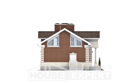 160-009-R Two Story House Plans, compact House Blueprints