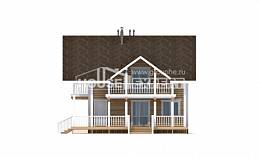 130-001-R Two Story House Plans and mansard, beautiful Plan Online