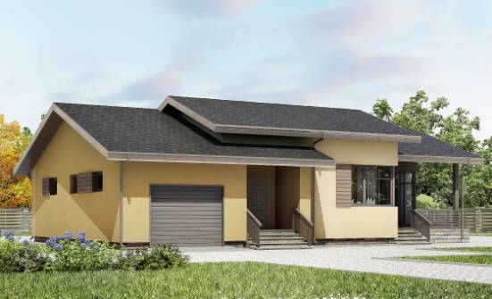 135-002-L One Story House Plans and garage, beautiful Plans Free,