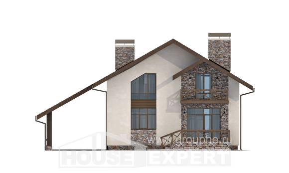 155-007-R Two Story House Plans with garage under, the budget Tiny House Plans,