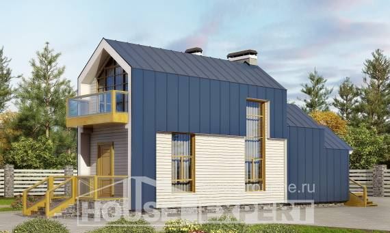 060-006-R Two Story House Plans with mansard roof, miniature Plan Online,
