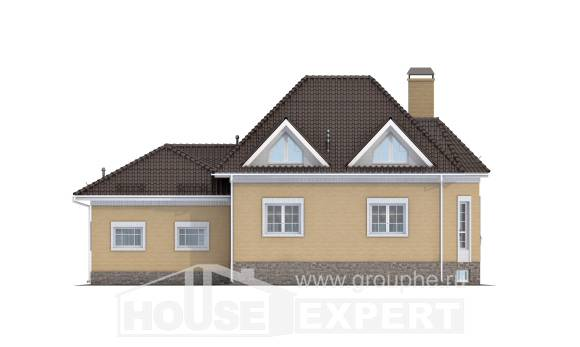 400-001-R Three Story House Plans with mansard with garage in front, best house House Planes,